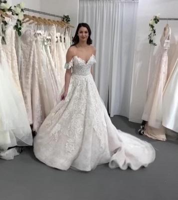 Wunderschöne Brautkleid A Linie | Hochzeitskleider Mit Spitze Online_2