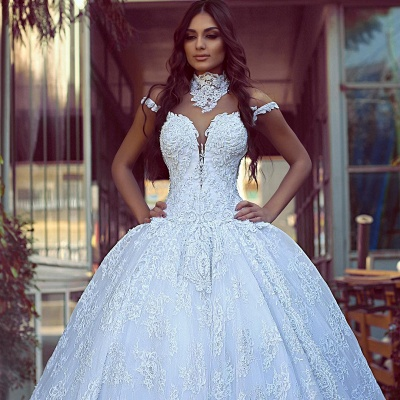 Elegant wedding dresses with lace | Wedding dresses princess online_2