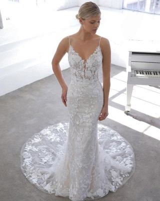 Designer wedding dress A line | Lace Wedding Dresses Cheap Online_3