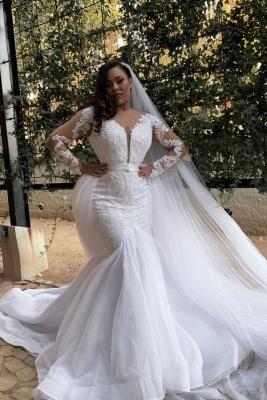 Brautkleider Mit Ärmel | Hochzeitskleider Meerjungfrau Prinzessin_1
