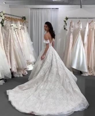 Wunderschöne Brautkleid A Linie | Hochzeitskleider Mit Spitze Online_3