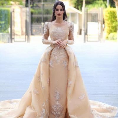 Designer Brautkleider Mit Ärmel | Hochzeitskleider A Linie Online_3