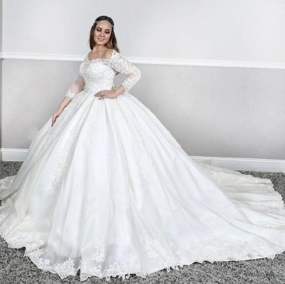 Wedding dresses princess | Lace wedding dress with sleeves_1