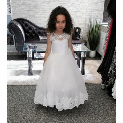 Wedding dresses kids fashion | Flower girl dress white_2
