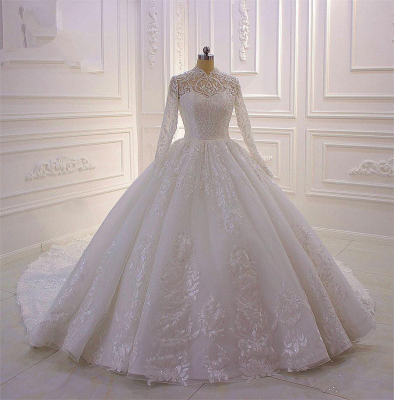 Designer wedding dresses A line | Wedding dresses lace sleeves online_2