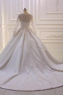 Brautkleider Mit Ärmel | Hochzeitskleider A Linie Spitze_3