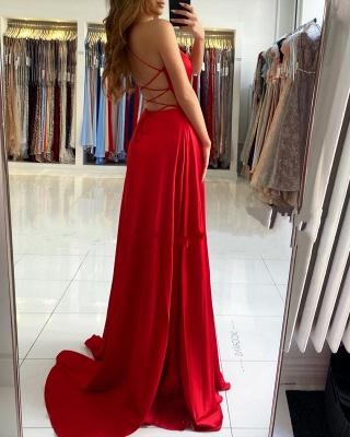 Evening dresses long red | Simple evening dress cheap online_4