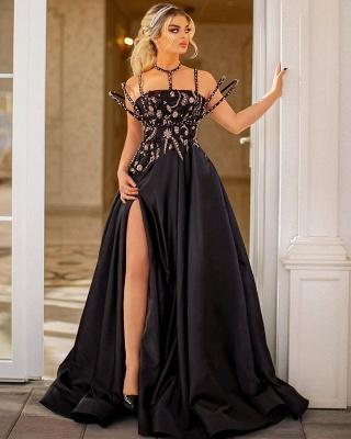 Elegant Evening Dresses Long Lace | Evening dress black cheap_2