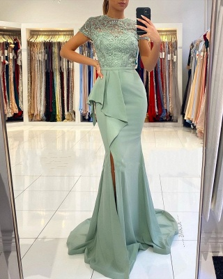 Designer evening dresses with lace | Prom dresses cheap online_2
