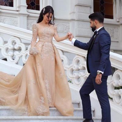 Designer Brautkleider Mit Ärmel | Hochzeitskleider A Linie Online_4