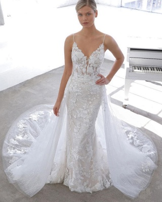 Designer wedding dress A line | Lace Wedding Dresses Cheap Online_1