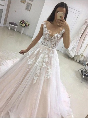 Modern Wedding Dresses A Line | Wedding dresses with lace online_2