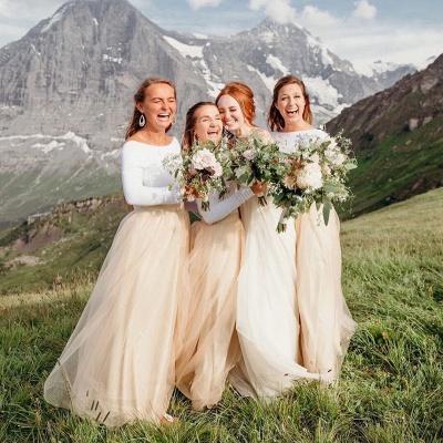 Elegante Brautjungfernkleider Lang Günstig | Kleider für Brautjungfern Online_2