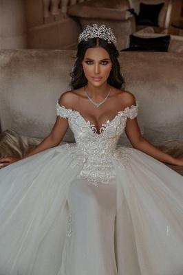 Elegante Hochzeitskleider A linie | Tüll Brautkleid mit Spitze_1