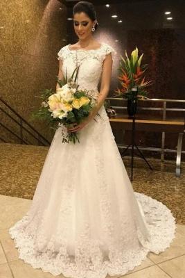 Schlichte Brautkleid A Linie | Hochzeitskleider Mit Spitze Online