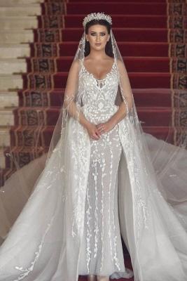Luxus Hochzeitskleider A Linie | Brautmoden mit Spitze Online_1