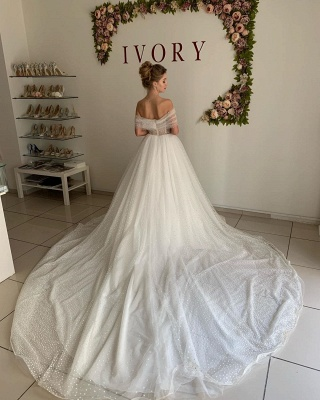 Beautiful wedding dresses princess | Wedding dresses tulle with lace_2