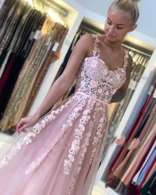 Gorgeous Evening Dresses Long Pink | Ball gowns with lace_5