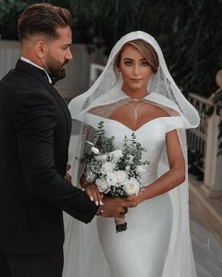 Fashion Brautkleider mit Glitzer | Hochzeitkleider Meerjungfrau Online_6