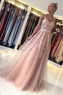 Wunderschöne Abendkleider Lang Rosa | Ballkleider mit Spitze_1
