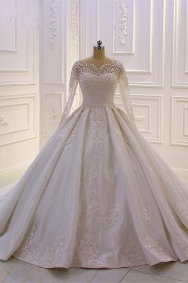 Brautkleider Mit Ärmel | Hochzeitskleider A Linie Spitze_1