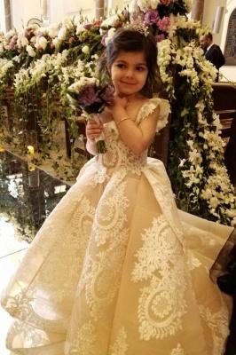 Wunderschöne Kinder Hochzeitskleider | Blumenmädchenkleider Günstig