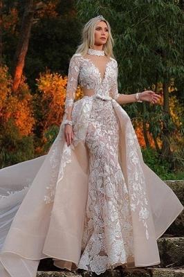 Designer Brautkleider mit Ärmel | Spitze Brautmoden A linie