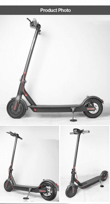 Electric scooter e-scooter, with 250W motor, 15.5 miles long range 36V / 7.8Ah battery, maximum speed 25Km / h, maximum load 120kg, 8.5