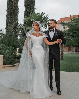 Fashion Brautkleider mit Glitzer | Hochzeitkleider Meerjungfrau Online_3