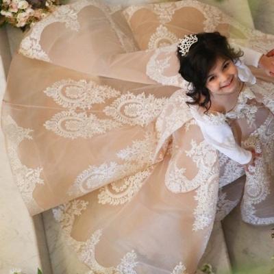 Wunderschöne Kinder Hochzeitskleider | Blumenmädchenkleider Günstig_3