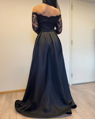 Evening dresses long with sleeves | Evening dress black_4