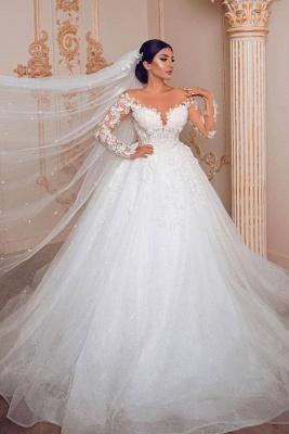 Wunderschöne Hochzeitskleider mit Ärmel | Spitze Brautkleid Prinzessin_1