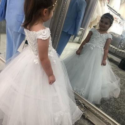 Hochzeitskleider für Kinder in Weiß | Blumenmädchen Kleid Günstig_2
