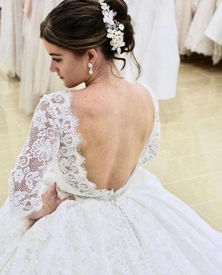 Modern wedding dresses with sleeves | Buy lace wedding dress online_2
