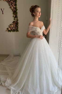 Beautiful wedding dresses princess | Wedding dresses tulle with lace_1