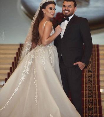Luxus Hochzeitskleider A Linie | Brautmoden mit Spitze Online_3