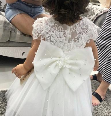 Flower girl dress white | Flower girl dresses cheap online_3