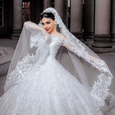 Hochzeitskleider Prinzessin Online | Brautkleider Mit Ärmel_3