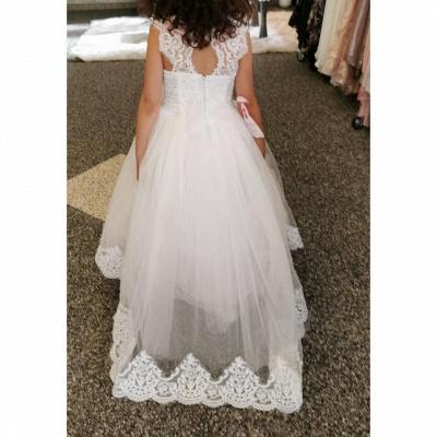 Wedding dresses kids fashion | Flower girl dress white_3