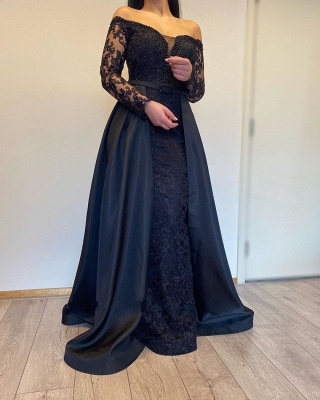 Evening dresses long with sleeves | Evening dress black_2