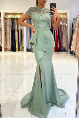 Designer evening dresses with lace | Prom dresses cheap online_1
