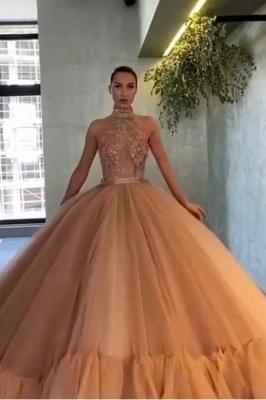 Elegante Abendkleider Lang | Abiballkleider Gold Glitzer