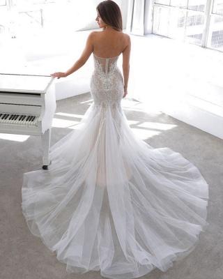 Elegante Brautkleid Meerjungfrau Spitze | Hochzeitskleider Online Kaufen_2
