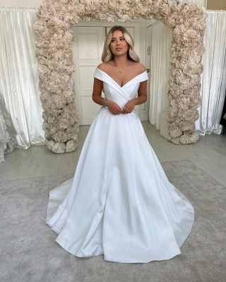 Cheap Wedding Dresses A line | Satin Wedding Fashions Online_2