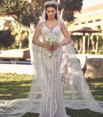Luxus Hochzeitskleider A Linie | Brautmoden mit Spitze Online_2