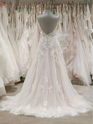 Schlichte Brautkleider A Linie Spitze | Hochzeitskleider Günstig_2