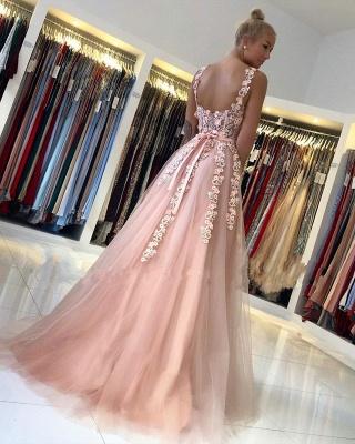 Wunderschöne Abendkleider Lang Rosa | Ballkleider mit Spitze_3