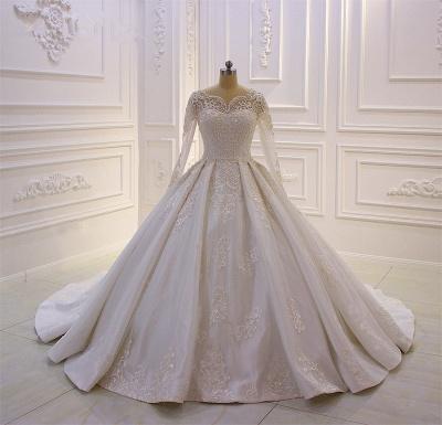 Brautkleider Mit Ärmel | Hochzeitskleider A Linie Spitze_2