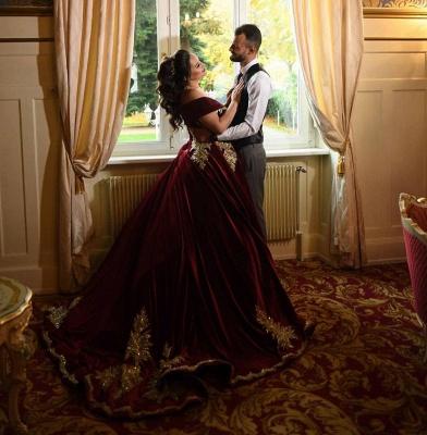 Weinrot Abendkleider Lang Mit Spitze | Abiballkleider Prinzessin Online_6