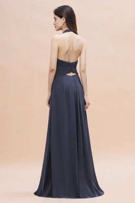 Schlichtes Abendkleid Chiffon | Brautjungfernkleider Lang Günstig_3